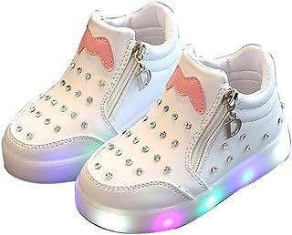 BY0NE Toddler Baby Boys Girls Sneakers Luminous Running LED Light Walking Shoes