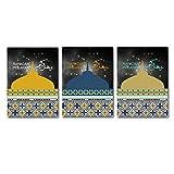 目覚まし時計車のヘッドフォン北欧ポスターやプリント静物キャンバス印刷された絵画壁ポップ芸術モジュラー画像家の装飾3ピース/セット15.7x23.6In(40x60cm)フレームレス