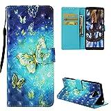 Edauto Hülle Handyhülle Kompatibel mit Sony Xperia 10 Schutzhülle Wallet Flip Case PU Leder Case Skin Brieftasche Ledertasche Tasche Bookstyle Handycover Openwork Schmetterling
