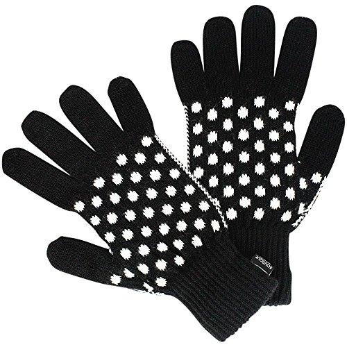 Moschino Strick-Handschuhe mit Tupfen, Onesize, Black