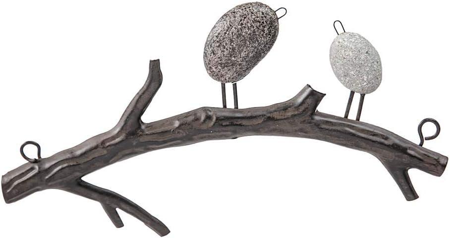 Amazon Com Wind Weather Birds On Branch Indoor Or Outdoor Wall Art Made Of Lightweight Metal 2 Birds 10 5 Wide X 4 5 High X 1 5 Deep Everything Else