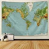 LOJKIUT tapizTapiz de Mapa del Tesoro Pirata para Colgar en la Pared, Estera de Playa, Manta Fina de poliéster, mantón de Yoga, Manta Nueva