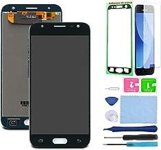 Pantalla LCD Táctil Asamblea Repuesto Compatible con Samsung Galaxy J3 2017 J330 Negro con Herramientas + Película Templada + Adhesivo 3M