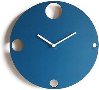 28cm Piccolo orologio da parete silenzioso per camera letto colorato come verde petrolio Particolari orologi a muro con me...