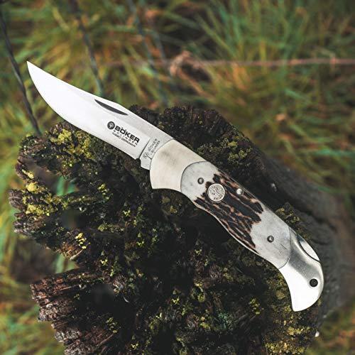 Böker Scout Hirschhorn - klassisches Taschenmesser mit Horn-Griff - edles Jagd-Messer mit lebenslanger Garantie - legales Klappmesser in edler Geschenk-Box