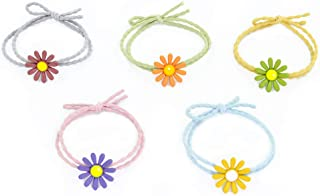 Elastic Hair Ties Hair Scrunchies Mymazn Scrunchies for Hair Mymazn Elastic Hair Ties Hair Bands Holders Headband Hair Accessories (Flower)