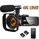 Video Camera Camcorder 4K 30MP Digital Camcorder Camera with Microphone Ultra HD Vlogging
