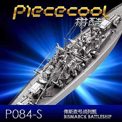 Piececool 3D Metal DIY Ship Assemble Puzzle kit Jigsaw Bismarck Battleship P084
