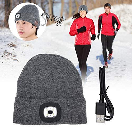 Ruining Sombrero de música con luz LED, Sombrero de música inalámbrico ultrabrillante, Reproducir música para iluminación