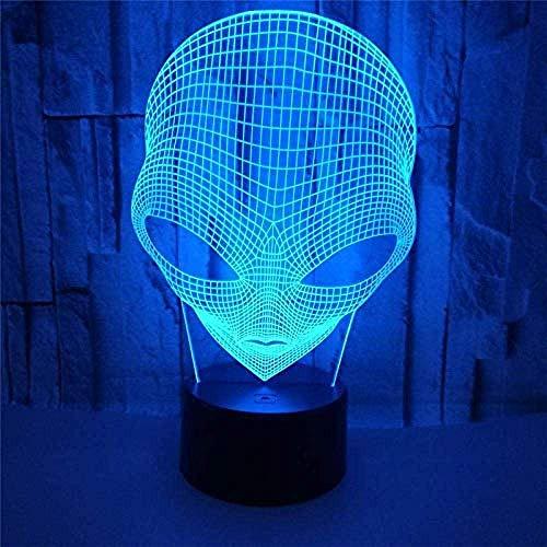 3D LED Night Lights Big Eyes Alien Action Figuur 7 kleuren Touch Illusion USB bureaulamp decoratie geschenk voor kinderen