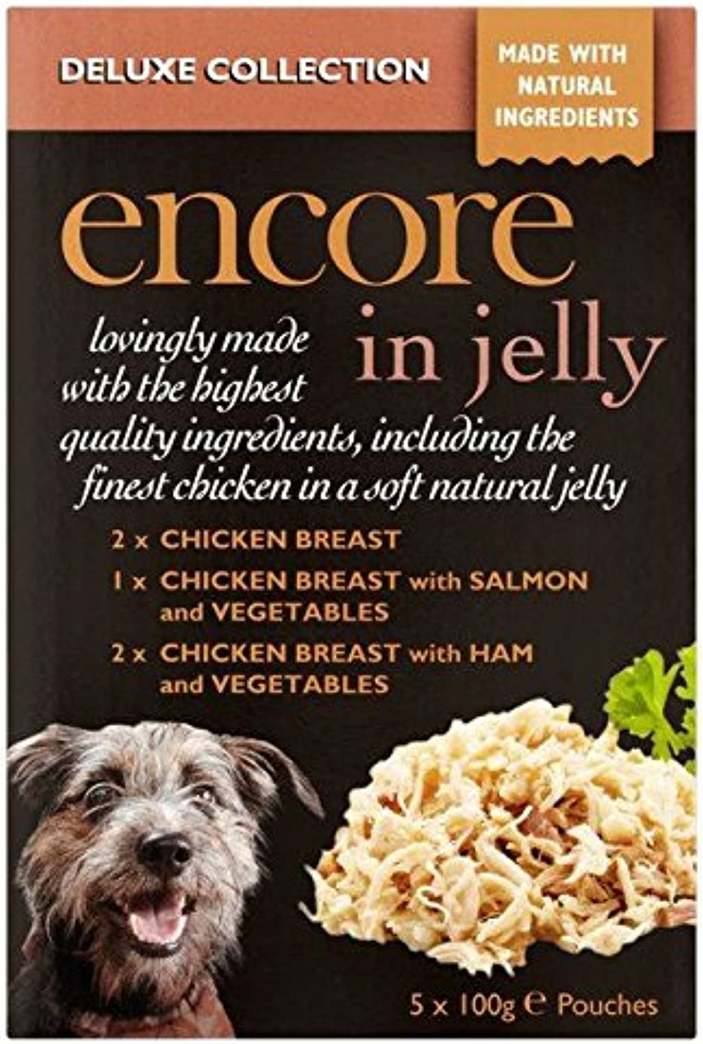 Encore Deluxe Collection Dog Pouch in Jelly 5 x 100g (PACK OF 4)