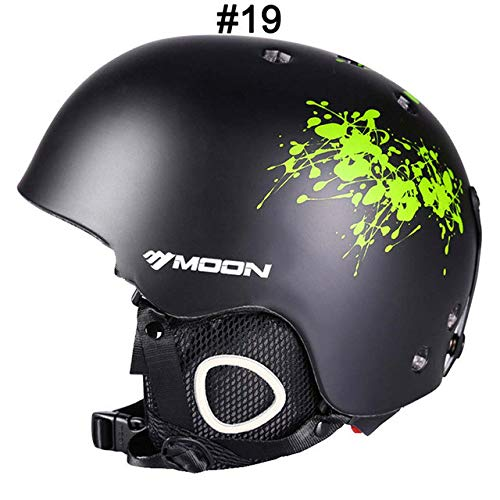 IAMZHL Skihelm Integrierter geformter Skihelm für Erwachsene und Kinder Schneehelm Skateboard Ski Snowboard Helm-a61-M (55-58cm)