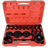CCLIFE Set di Strumenti Estrattori per Cuscinetto Ruota Boccole Estrattori per Attrezzi Pressa 24 pezzi 55-88 mm