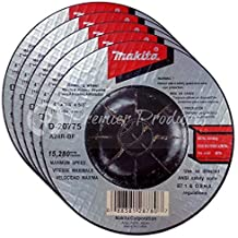 Makita 5 Pack - 4 Inch Grinding Wheel For 4