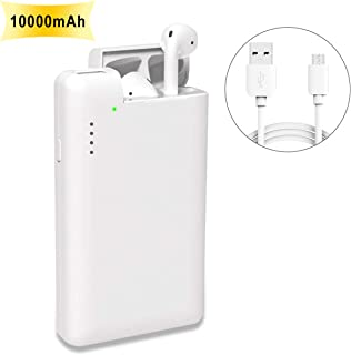 「2 in 1」Kartice Compatible with Airpods iphone 10000mah モバイルバッテリー Airpodバッテリー充電器 大容量 急速充電 スマホバッテリー充電器 iphone Xs Xs Max/Xr/X/X Plus/10/8、Samsung Galaxy S10/9/S9/8/S8、Airpodsに対応