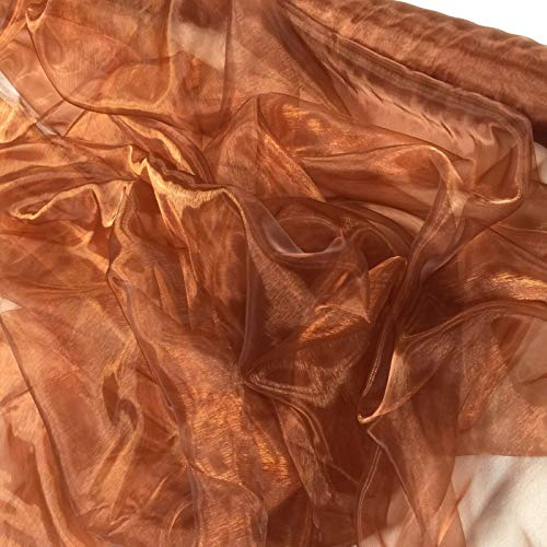 Sheer Organza-tyg voile säljs per meter skuren från rullen till önskad längd. 145 cm bred endast 1,99 per meter för 3 eller fler meter (ljusbrun) (ampel)