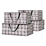 Beowanzk - Paquete de 4 Bolsas Almacenamiento Ropa Gran Capacidad Bolsas Almacenaje Ropa Cajas de Organizadoras Plastico Bolsas Para Guardar Ropa Almacenamiento Tela Con Cremallera Bolsas Mudanza