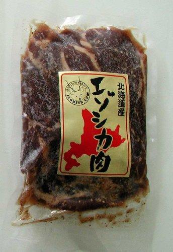 ジビエ 北海道特産エゾ鹿肉味付カルビ 500g