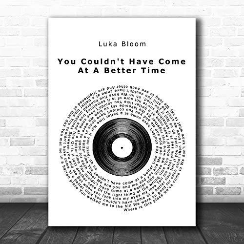 Je kon niet op een betere tijd komen Vinyl Record Song Lyric Quote Print Small A5