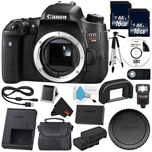 Canon 6Ave EOS Rebel T6s DSLR Camera (Body Only) (0020C001) Value Bundle- International Version