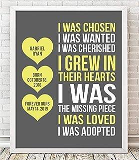 Adoption Framed Print | Adoption Plaque | Adoption Gift | Gotcha Gift | Gotcha Day | Adoptive Parents Gift |Gotcha Day - Adoption Gift | Adoption Keepsake