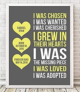 Adoption Framed Print | Adoption Plaque | Adoption Gift | Gotcha Gift | Gotcha Day | Adoptive Parents Gift |Gotcha Day - Adoption Gift | Adoption Keepsake
