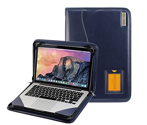 Broonel - Contour Series - Blue Heavy Duty Vegan Leather Protective Case Cover Compatible With The Apple MacBook Pro with Retina Display, MJLQ2B/A, 15.4'