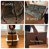 MULTUS - Handle and Haul Adjustable Moving Strap Cam Buckle System to Secure Lift Carry Move Awkward Heavy Boxes Furniture Building Construction Materials Equipment Fast & Easy; #2 Handles