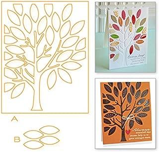 TrustBT Good Die Cuts, Tree Rectangle Frame Leaves Background Dies Metal Cutting Dies New 2019 for DIY Scrapbooking Embossing Photo Album Decorative DIY Paper Cards Making Craft 7.5x9.6cm