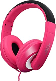 Yealsha Over Ear Headphones Stereo Wired Headset with Mic, Noise Isolating Leather Earphones