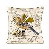 HUIFA American Country Kissen Hochwertige Präzision Leinenblume Und Vogel Stickerei Sofa...