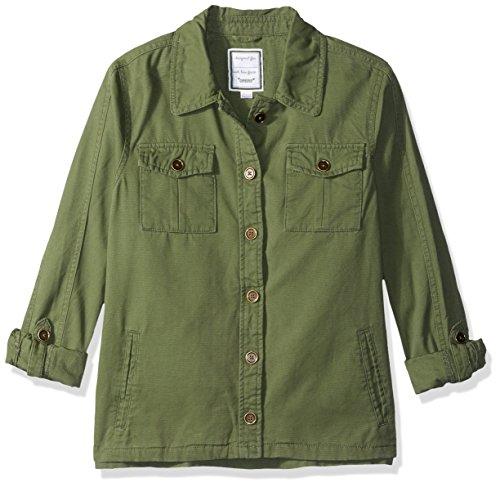 Gymboree Girls' Big Long Sleeve Lightweight Jacket, Olive Anorack, M