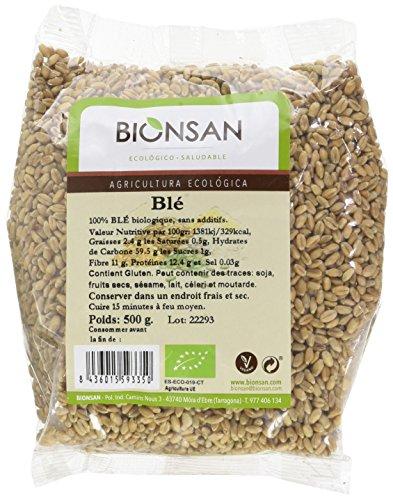 Bionsan - Graines de Blé Biologiques | 6 Paquets de 500 gr | Total : 3000 gr