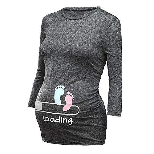 Schwangere Damen Lustige witzige süße Umstandsmode Baby Loading Umst