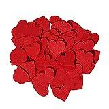 edelkern Filz Herz Deko | rote Filzherzen | rote Streudeko Herzen aus Filz zum Dekorieren und Basteln (DIY) | 80 Stück