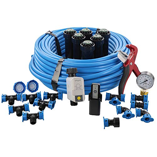 In-Ground Sprinkler System with B-hyve Wi-Fi Hose Watering Timer and Hub