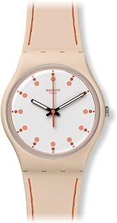 Swatch Women's GT106T Soft Day Year-Round Analog Quartz Pink Watch