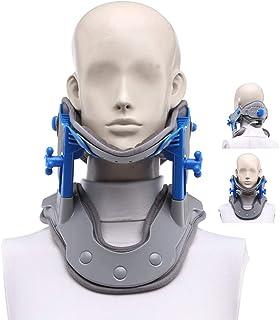 頸椎牽引装置、ネックストレッチャー修正修理理学療法脊椎マッサージ、ホームトラクション用脊椎整列 - 首&肩の痛み緩和