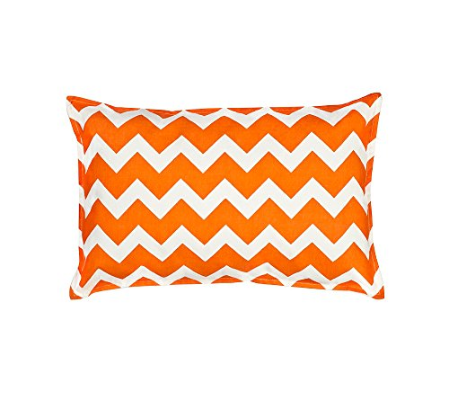 Greendale Home Fashions Orange Chevron 14
