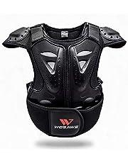 WOSAWE Chaleco de Protector para Niño Niña Deportiva Profesional de Columna Vertebral Armadura del Pecho para Motocicleta Ciclismo Patinaje Esquiar