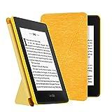 OLAIKE Estuche de Tela para Kindle Paperwhite (10a generación, Versiones 2018) E-Reader, Cubierta de pie Compatible con Lectura Manos Libres con activación/suspensión automática, Amarillo