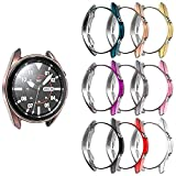 [10-Pack] Richone Protector Case Compatible with Samsung Galaxy Watch 3 41mm Cover, Soft TPU Bumper Ultra Thin Protective Frame (10 Colors, 41mm)