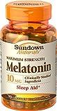 Sundown Melatonin 10 mg Capsules, 90 Count (Pack of 12)