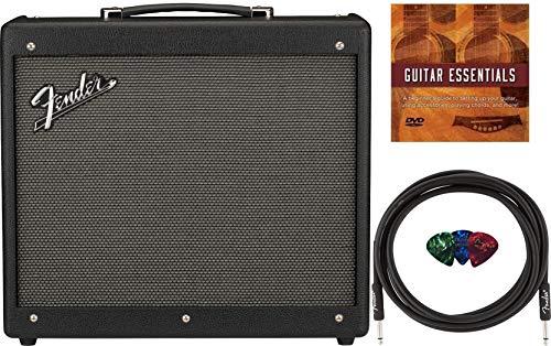 Fender Mustang GTX 50 1x12' 50W Digital Modeling Combo Amplifier Bundle with Fender 10ft Instrument Cable, 3-Pack Fender Picks, and Austin Bazaar Instructional DVD