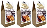 Rabbit Creek Olive Oil Bread Mix Pack of 3 – Cheese & Bacon Bread Mix - Quick and Easy Gourmet Bread Mix