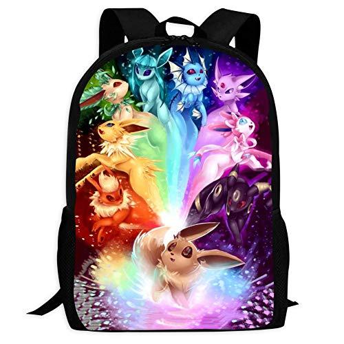 BEKAI E-evee Evolution Art | School Bags Multiple Pockets Backpack for Kids/Youth/Boys/Girls