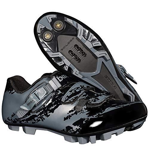 TSSM Mountainbike Fietsschoenen Ademend Ultralight Zelfsluitende Sneakers Lichtgewicht met Roterende Knop voor Unisex Mannen Vrouwen (EU 39-45 Maten)