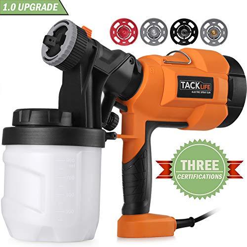 Paint Sprayer,Tacklife SGP15AC Electric Paint Spray Gun, 3 Spraying...