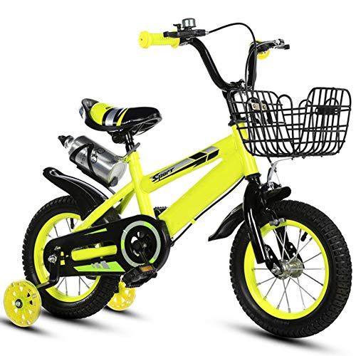 LIERSI Los Niños En Bicicleta 14 Pulgadas Niños Y Niñas con Estabilizadores,...