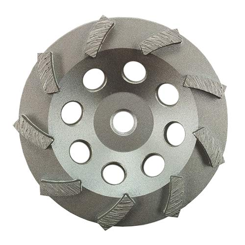 3 Pack - Diamond Grinding Cup Wheel Turbo Swirl 9 Segs 5/8-11 Thread (4.5